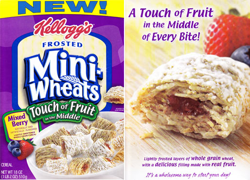 Kellogg's Frosted Mini-Wheats Mixed Berry Touch Of Fruit In The Middle