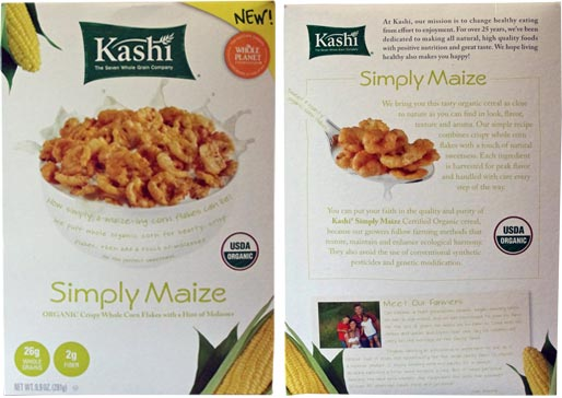 Simply Maize Cereal From Kashi