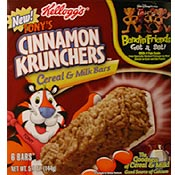 Tony's Cinnamon Krunchers Cereal & Milk Bars