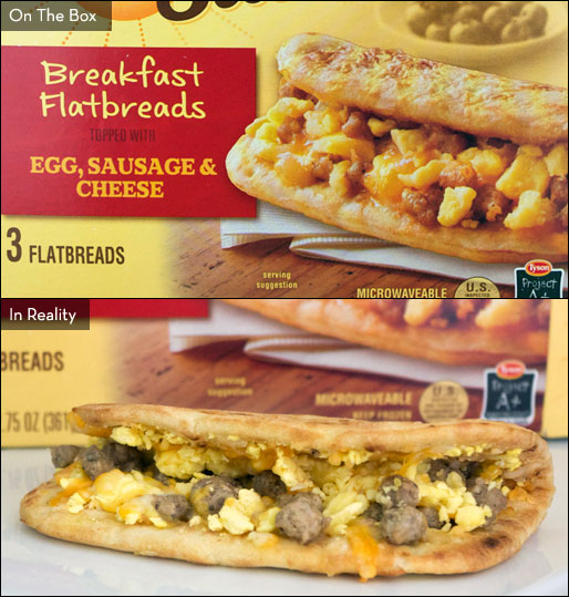 Egg, Sausage & Cheese Day Starts Breakfast Flatbreads
