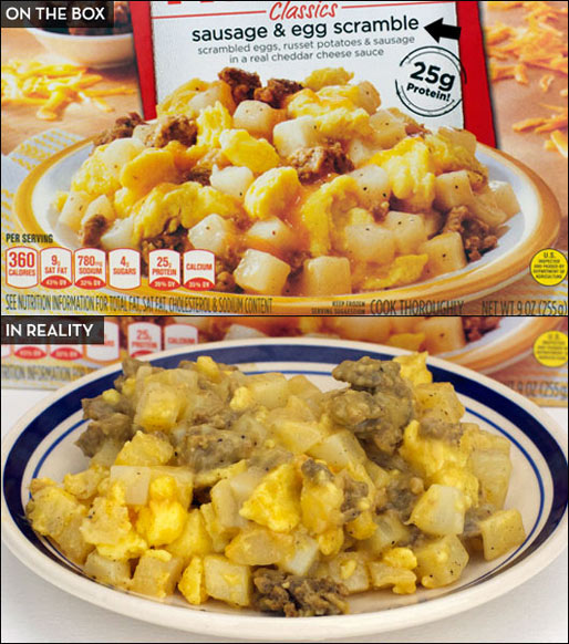 Stouffer's Morning Classics Sausage And Egg Scramble
