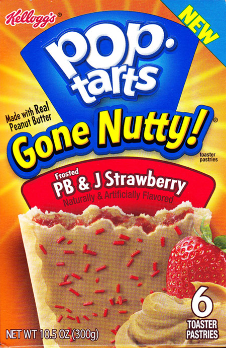 Frosted PB & J Strawberry Pop-Tarts Gone Nutty! Product Review