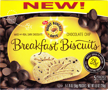 Chocolate Chip Honey Bunches of Oats Breakfast Biscuits Product Review