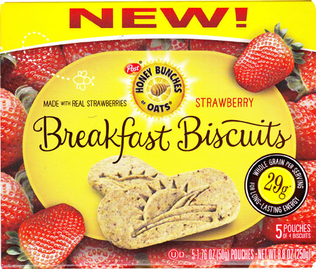 Strawberry Honey Bunches of Oats Breakfast Biscuits Product Review