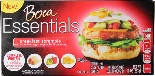 Boca Essentials Breakfast Scramble Veggie Patties Product Review