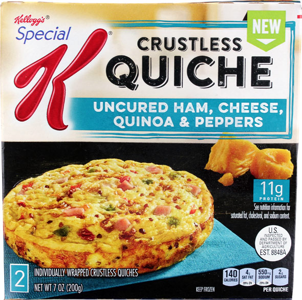 Special K Crustless Quiche: Uncured Ham, Cheese, Quinoa & Peppers