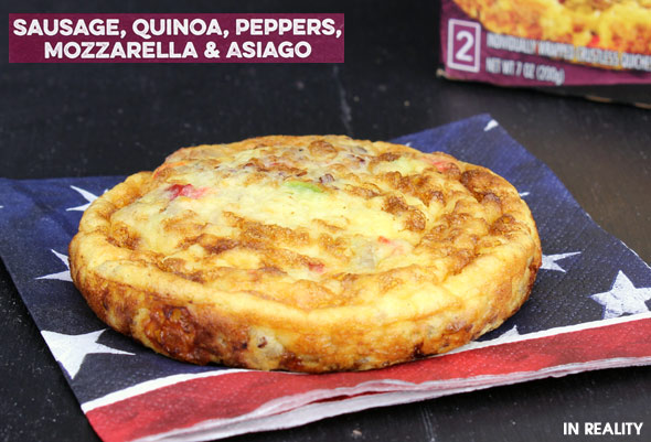 Special K Crustless Quiche in Reality: Sausage, Quinoa, Peppers, Mozzarella & Asiago