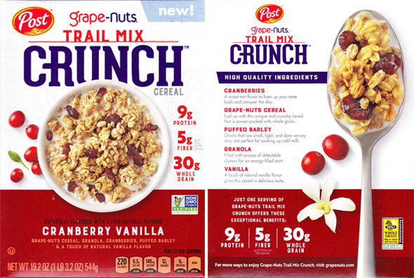 Cranberry Vanilla Grape-Nuts Trail Mix Crunch Product Review