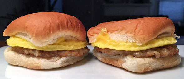 White Castle Breakfast Sliders In Reality