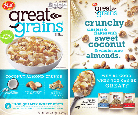 Great Grains Coconut Almond Crunch Cereal Product Review
