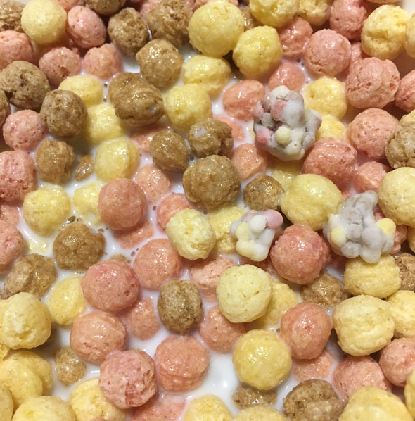 Bowl of Dippin' Dots Banana Split Cereal
