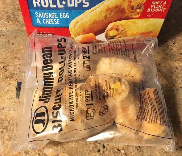 Jimmy Dean Biscuit Roll-Ups Package