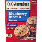 Blueberry Biscuit: Sausage