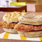 McDonald's Chicken Breakfast Sandwiches