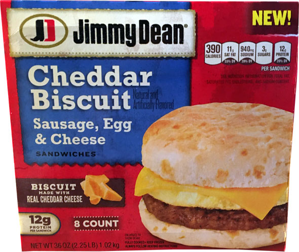 Jimmy Dean Sausage, Egg & Cheese Cheddar Biscuits Product Review