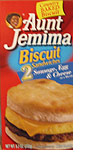 Aunt Jemima Sausage Egg And Cheese Biscuit Sandwich