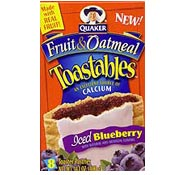 Iced Blueberry Fruit & Oatmeal Toastables