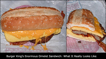 Burger King's Enormous Omelet Sandwich