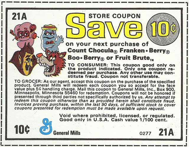 Monster Cereals Coupon