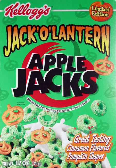 Apple Jacks Cereal Box Jack-o-lantern Apple Jacks Box