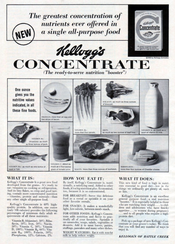 1959 Ad For Concentrate Cereal
