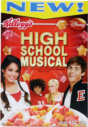 High School Musical High School Musical Cereal Box Front
