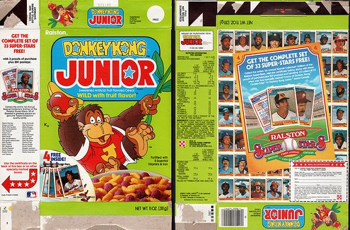 Donkey Kong Jr. Box - Front & Back