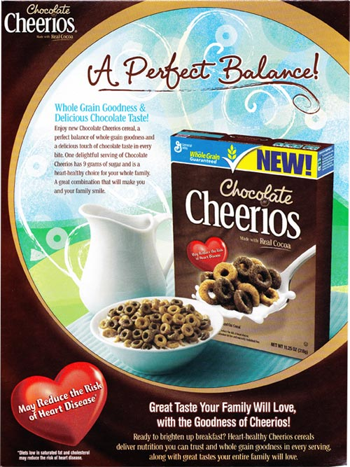 Chocolate Cheerios Box - Back