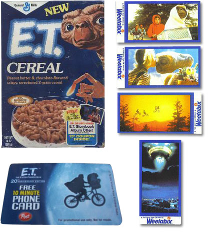 E.T. Cereal Box And Cards