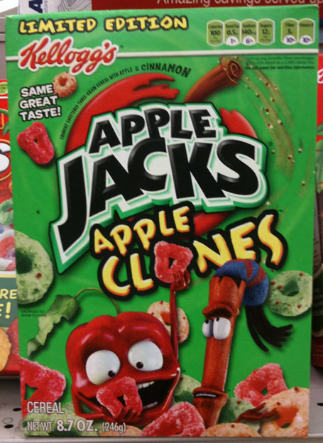 Apple Jacks Cereal Box Apple Clones Cereal Box