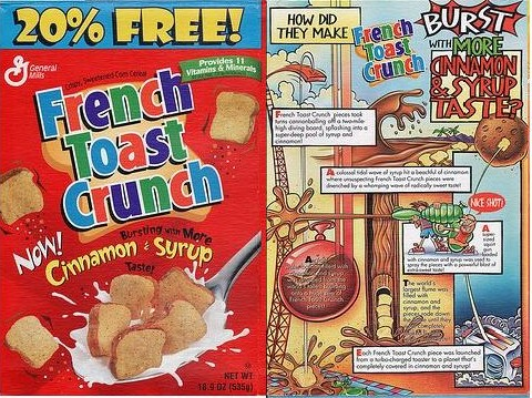 French Toast Crunch Box (Front & Back)
