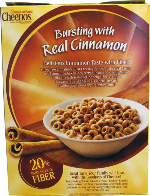 Cinnamon Burst Cheerios Box - Back