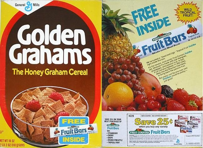 Golden Grahams Fruit Bars Box