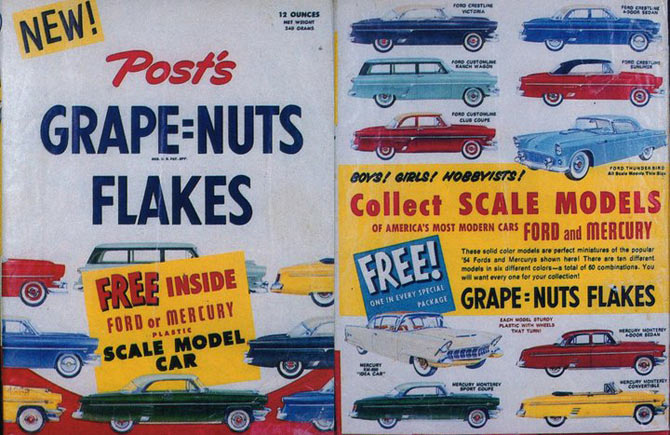 Grape-Nuts Flakes Model Cars