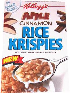Apple Cinnamon Rice Krispies: Apple Cinnamon Rice Krispies Box