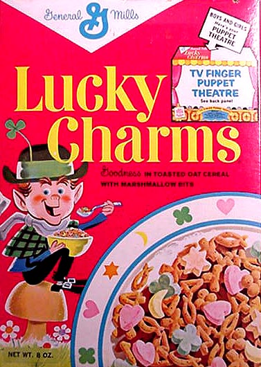 Lucky charms classic lucky charms cereal box