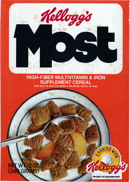 Most 1982 Most Cereal Box
