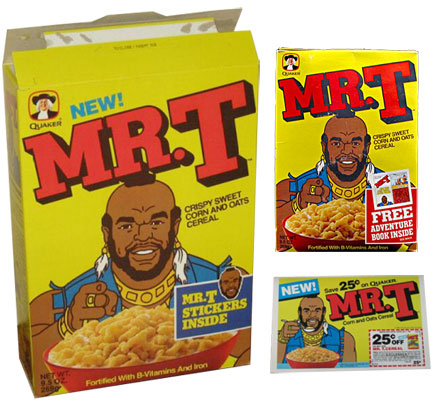 Mr. T Cereal Boxes & Coupon