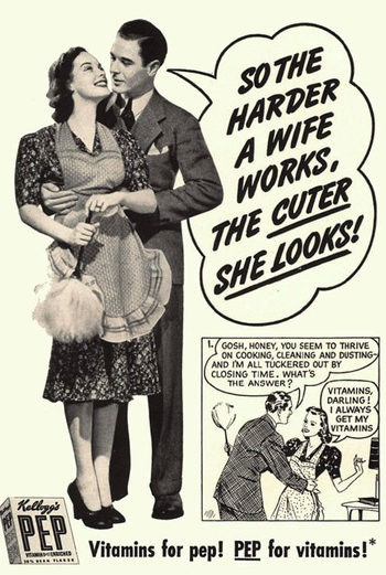 Hard-Working Cute Wife Pep Ad