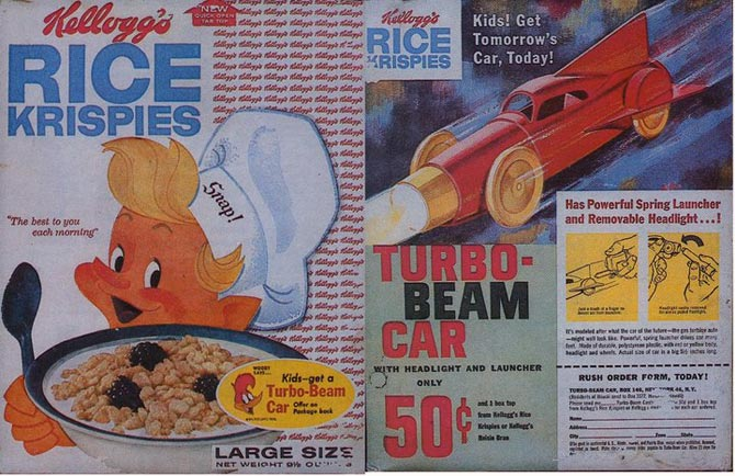 Rice Krispies Turbo-Beam Car