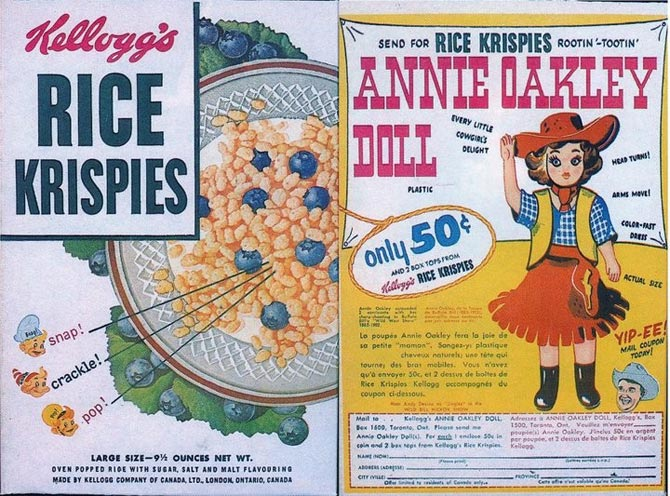 Rice Krispies Annie Oakley Box