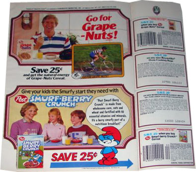 1984 Smurf-Berry Crunch Coupon