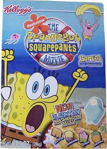 SpongeBob Squarepants Movie Cereal Box