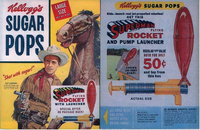 Sugar Pops Superman Rocket
