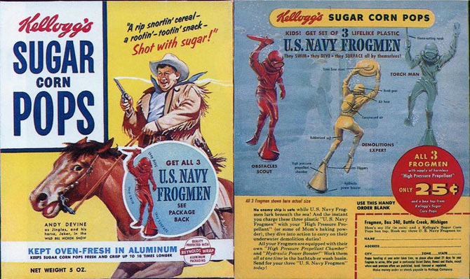 Sugar Corn Pops Frogmen Box
