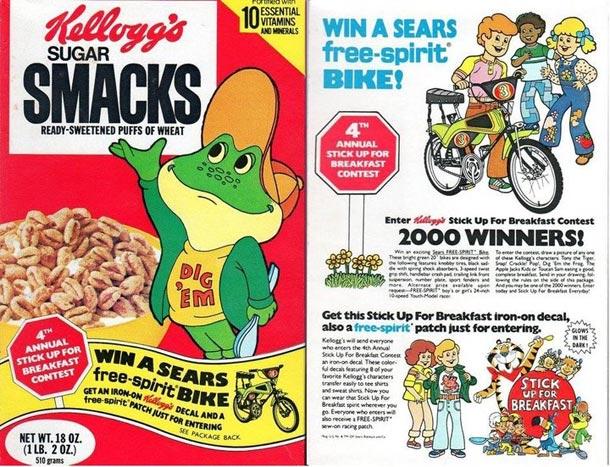 Sugar Smacks: 1977 Sugar Smacks Cereal Box