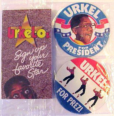 Urkel For President Campaign Buttons