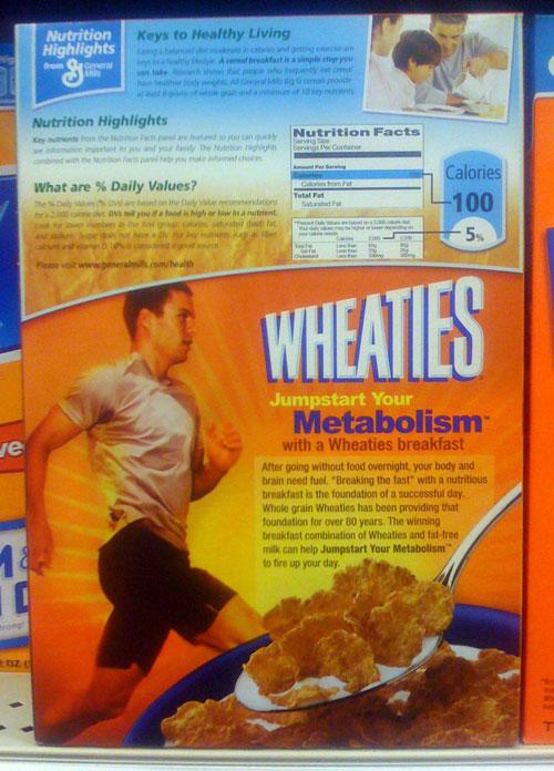 Wheaties: Late 2008 Wheaties Box - Back