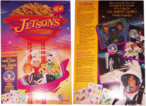 jetsons  jetsons cereal space camp box