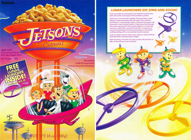 A box of Jetsons Cereal from 1990.